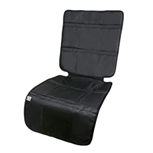 Travel Bug Baby & Toddler High Back Seat Protector, Universal Fit, for Rear and Forward Facing Baby Car Seats- Black