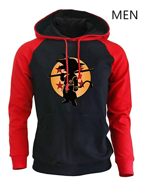 FLAMINGO_STORE Anime Hoodies Clothing Super Saiyan Sweatshirts Men Sportswear Hoody Sweatshirt at Amazon Mens Clothing store: