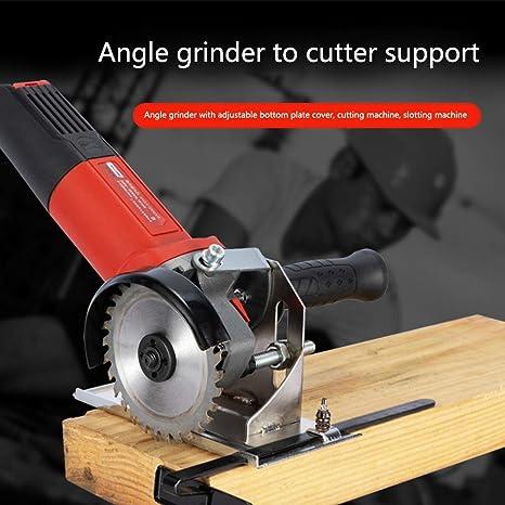 Soporte de Abrazadera de Corte Ajustable Soporte de Metal Base Segura para proyectos Generales de Bricolaje Soporte de Amoladora Angular