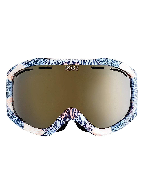 Roxy Womens Sunset Art Series – Snowboard Ski Goggles – Women – One Size – Blue Powder Blue_Animal Geo One Size
