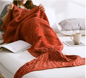 Wy Meerjungfrau Schwanz Decke Häkeln Meerjungfrau Decke Erwachsene
