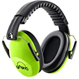Fnova 防音イヤーマフ 遮音値26dB プロテクター フリーサイズ 折りたたみ型 子供用 自閉症 聴覚過敏 騒音対策 勉強等様々な用途に (グリーン)