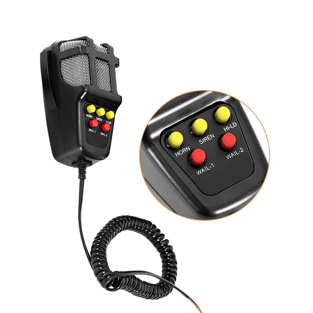 MOTL 100W 12V 5 Tone Sound Car Siren Speaker Mic PA System Emergency Sound Amplifier /…