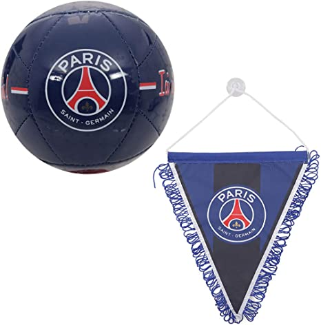 Kit Supporter Fan PSG (Mini balón Azul + Gran banderín) Licencia ...