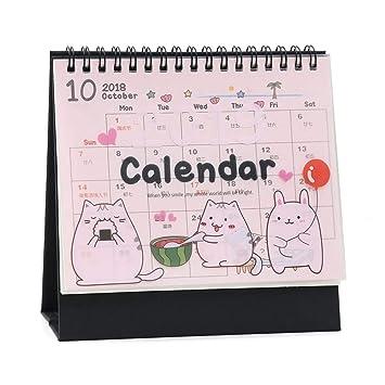 2019 - Calendario mensual de escritorio chino con diseño de gatos: Amazon.es: Oficina y papelería