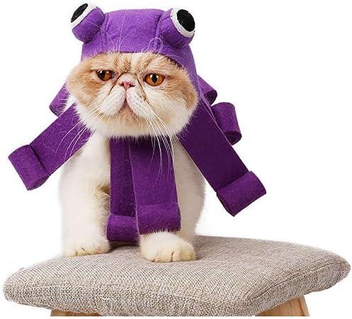 V.JUST Vestido de Gato Sombrero Sombrero de Tocado Sombrero de Pulpo Fiesta Festiva Gorros Gatos Perros Juego de rol Suministros para Mascotas: Amazon.es: Hogar