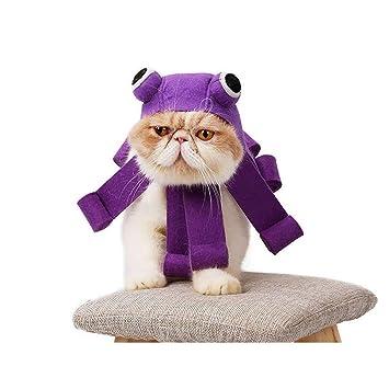 HLMF Vestido de Gato Sombrero Sombrero de Tocado Sombrero de Pulpo Fiesta Festiva Gorros Gatos Perros Juego de rol Suministros para Mascotas: Amazon.es: ...