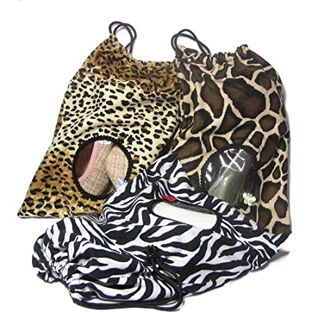Shoe Bag w// Peek-Thru Window Leopard Small