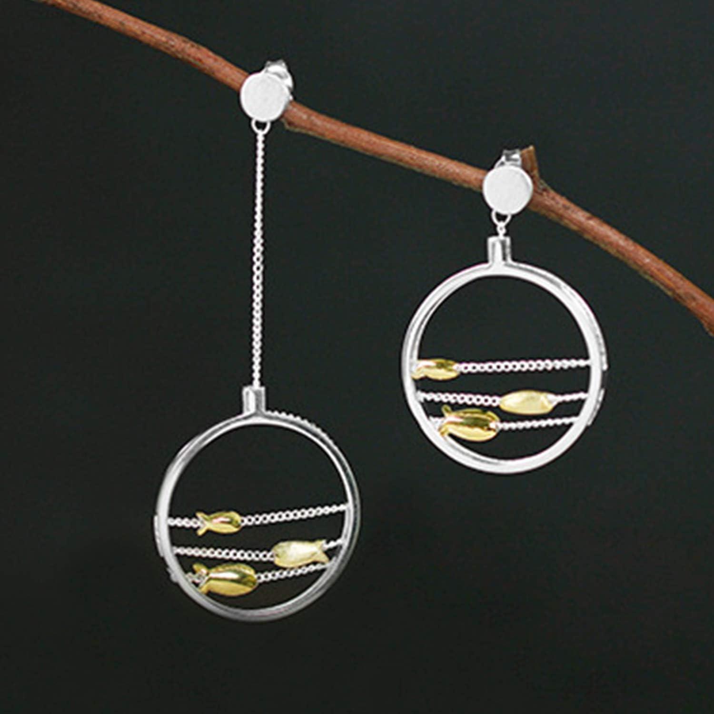 Lotus Fun S925 Boucles doreilles en argent sterling pour femme et fille