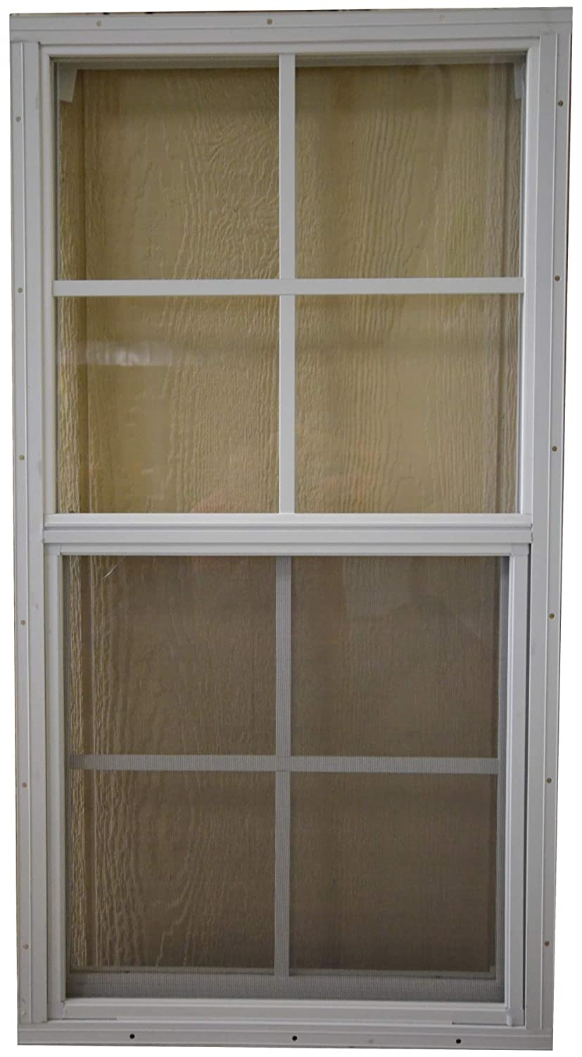 SHED PLAYHOUSE WINDOW-18X36-WHITE-FLUSH OUTDOOR PLAY AND STORAGE