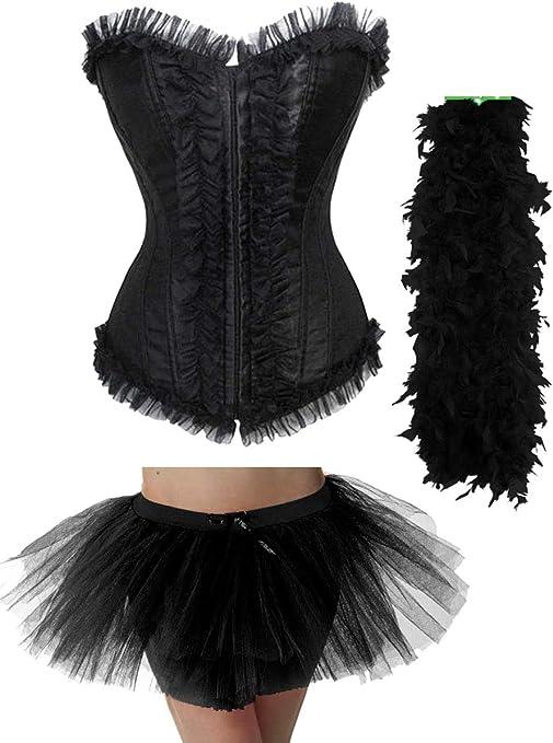 labreeze - Disfraz de tutú Sexy para Halloween, Color Negro ...