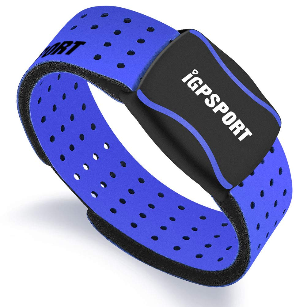 IGPSPORT HR60 Heart Rate Monitor Armband Ant+ Bluetooth Waterproof IPX7 HRM Sensor Compatible with Garmin/Strava/iPhone/Apple Watch