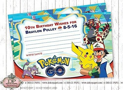 Amazon 10 WISH CARDS POKEMON GO Pikachu And Ash Rattata
