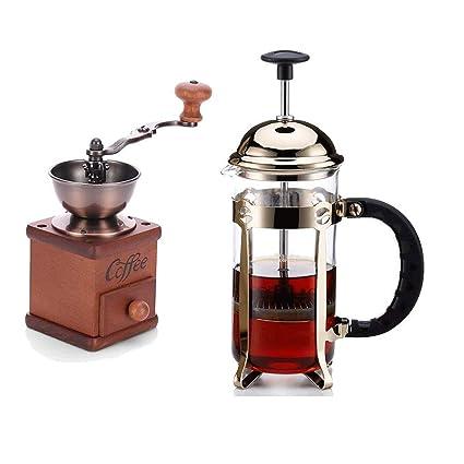 Cxmm Cafetera de Acero Inoxidable, Filtro de presión, cafetera de ...