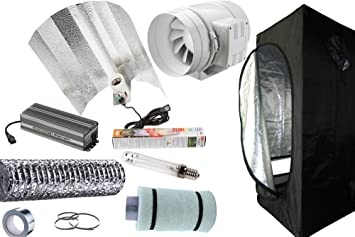 Hydroponics Grow Tent Kits (120x120x200cm Complete Grow Room 600w Light Fan u0026 Filter Kit  sc 1 st  Amazon UK & Hydroponics Grow Tent Kits (120x120x200cm Complete Grow Room 600w ...