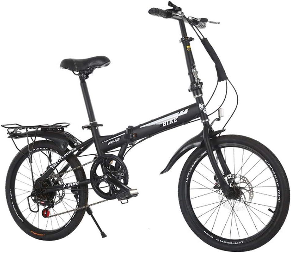 KXDLR 20 Bicicleta Plegable, 6 Velocidad Engranajes, Marco De ...