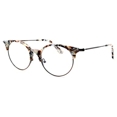 b4329a7c36 Amazon.com  TIJN Women Cateye Eyeglasses Frame Semi-rimless Glasses   Clothing