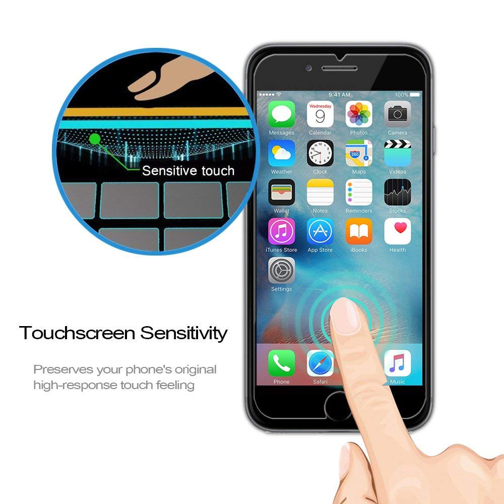 KATIN iPhone 8 7 6S 6 Screen Protector - [2-Pack] Tempered Glass for Apple iPhone 8, iPhone 7, iPhone 6S, iPhone 6 (4.7-inch) Easy to Install with Lifetime Replacement Warranty by KATIN (Image #5)