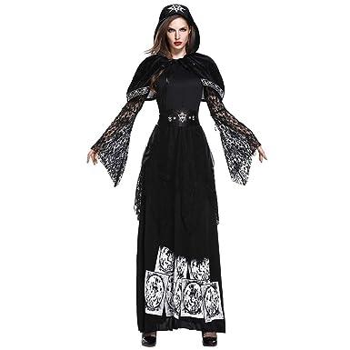 Disfraz de Bruja Mujer Cosplay Bruja Halloween Mujeres de Vestido ...