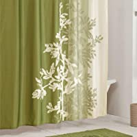 DS DESIGN Lola Shower Curtain,Flower Shower Curtain,Mildew Resistant Fabric Shower Curtains for Bathroom,Green Tree…