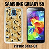 Mr Doge MEME Custom made Case/Cover/skin FOR Samsung Galaxy S5 -White- Plastic Snap On Case ( Ship From CA)