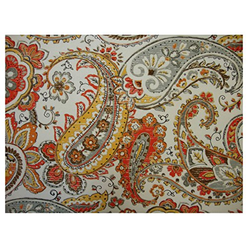 Hadia Sunset Full Size Paisley Futon Cover, 54 Inch x 75 Inch - Proudly Made in USA, Brand New Design (Available in Full, Queen, Twin, and Other Sizes)