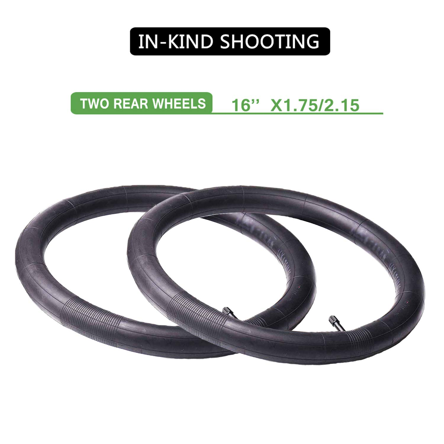 16'' x 1.75/2.15 Back Wheel Replacement Inner Tubes (2-Pack) for BoB Revolution SE/Pro/Flex/SU/Ironman - Made from BPA/Latex Free Premium Quality Butyl Rubber by YIKUSO (Image #2)