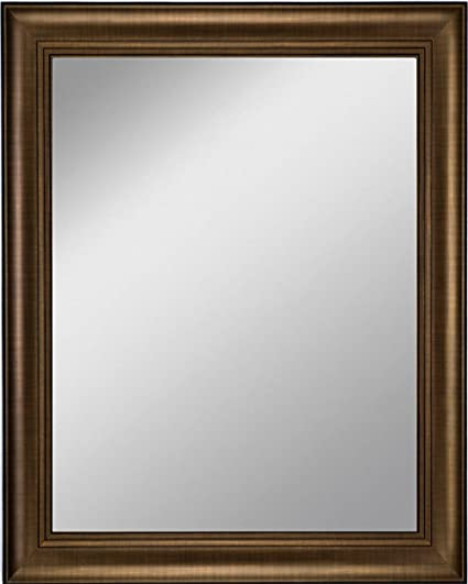 Amazon Com Art Oyster Framed Mirror 21 X 25 With Bronze