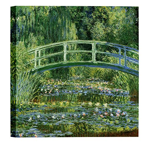 Monet Water Lilies Oil Painting - Eliteart-The Water Lily Pond (A) by Claude Monet Oil Painting Reproduction Giclee Wall Art Canvas Prints