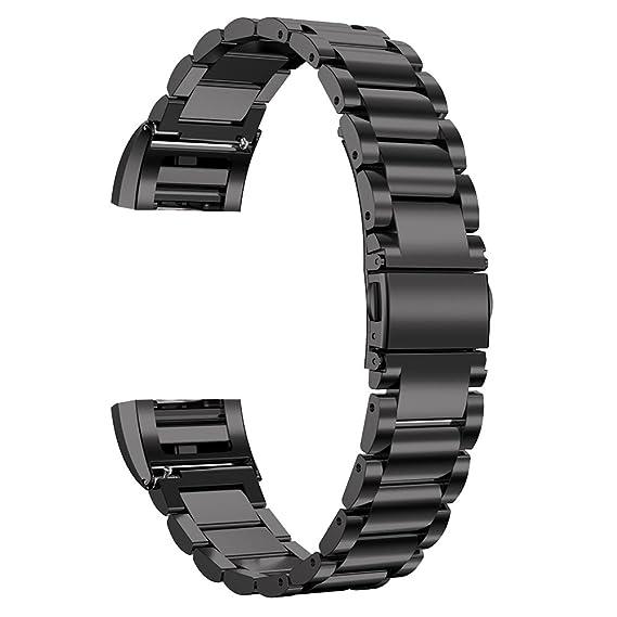 de alta calidad de acero inoxidable sólido correas de relojes inteligentes elegantes correas de reemplazo para