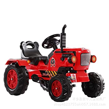 TONGSHAO Vehículos de Granja/Juguetes para Coches / Tractor eléctrico de Cuatro Ruedas simulado Que