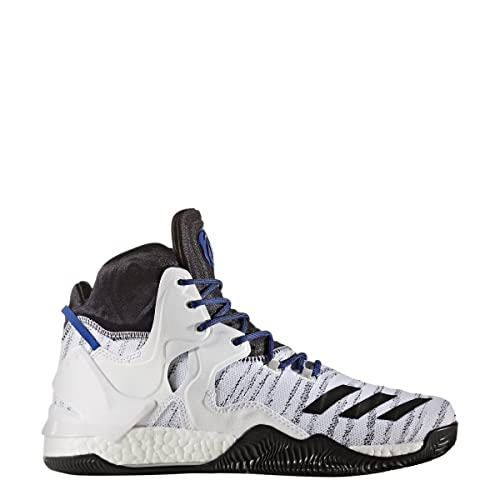 wholesale dealer e0b79 0ac7e adidas D Rose 7 Primeknit Shoe Mens Basketball 18 White-Core Black-Blue  Amazon.ca Shoes  Handbags