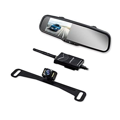 AUTO VOX Wireless Backup Camera Kit with HD Rearview Mirror Monitor