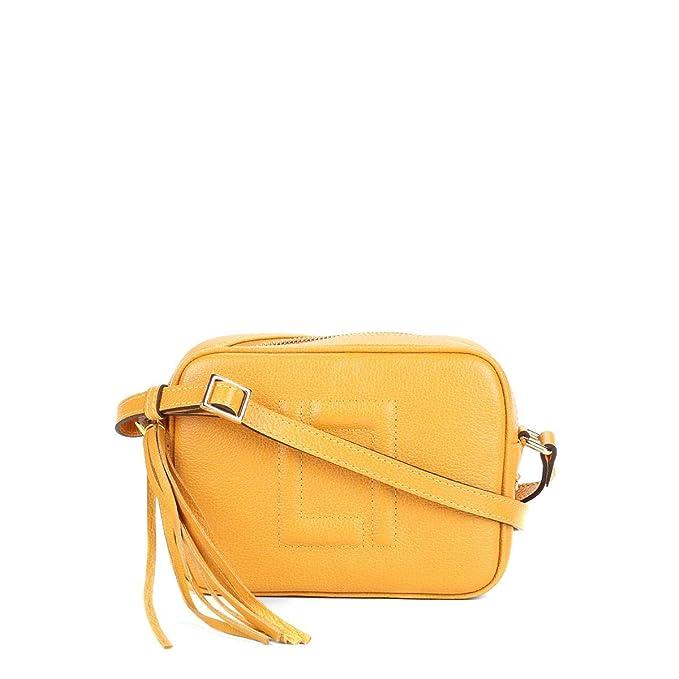 6efacd648 Bolsa Couro Luz Da Lua Mini Bag New Ridge Barbicacho Feminina - Amarelo -  Único