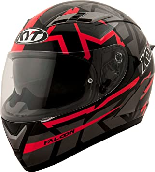 KYT casco Moto Cross off-road Falcon, Faster Red, talla M 57 –