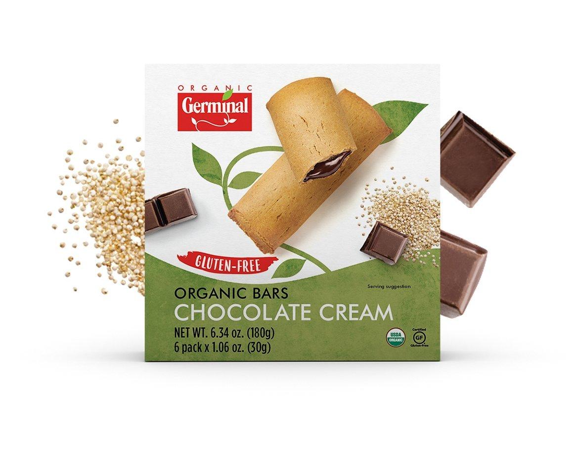 GERMINAL ORGANIC CHOCOLATE CREAM BARS, GLUTEN FREE, ORGANIC, 6.34 OZ (PACK OF 10) by ORGANIC GERMINAL