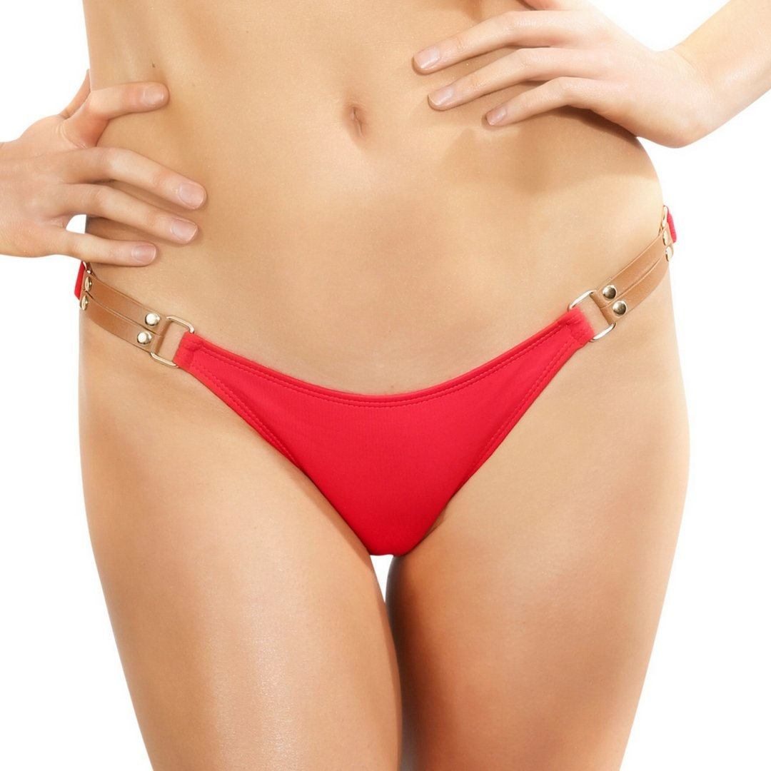 0373720bfb8 Amazon.com: Red Brazilian Bikini Bottoms Low Rise Swimsuit Cheeky ...