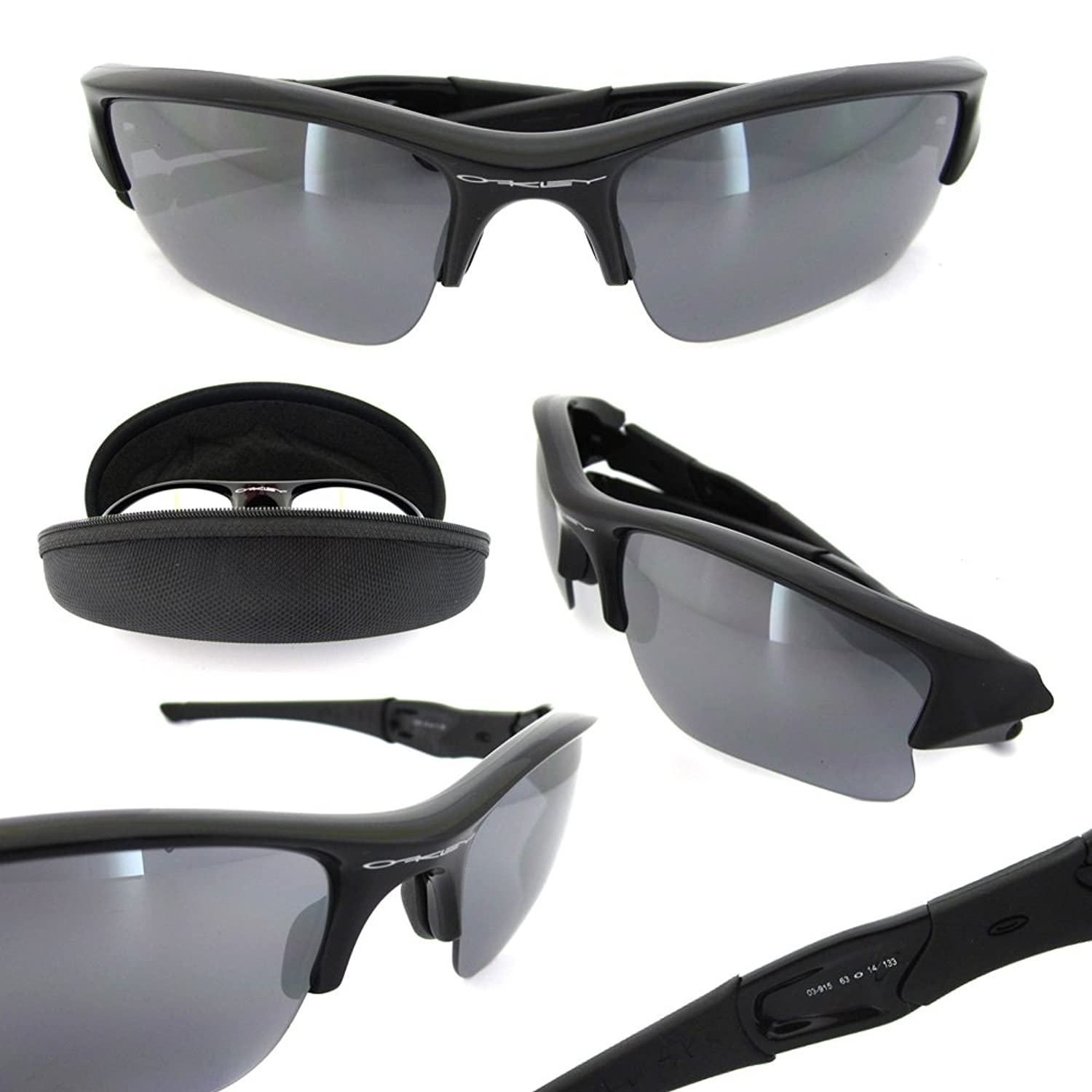 ac6a475c94a2 Amazon.com  Oakley Flak Jacket XLJ Jet Black w Blk Iridium 03-915 + Free SD  Glasses+Cleaning Kit  Clothing