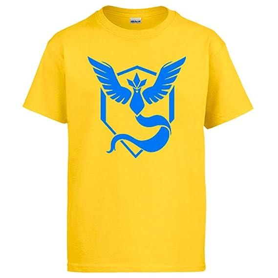 Camiseta Pokemon Go Equipo Sabiduría Mystic Azul: Amazon.es: Ropa y accesorios