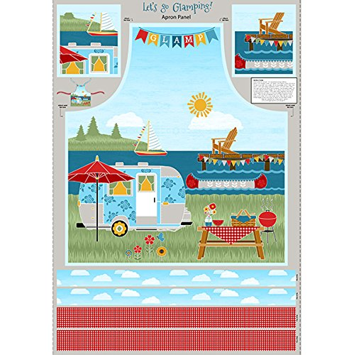 Wilmington Prints Lets Go Glamping Multi Apron Panel - Apron Panel