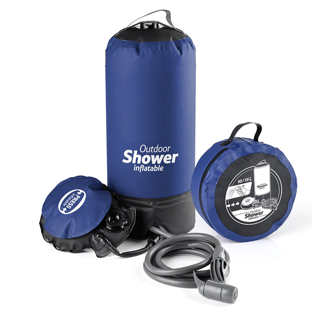 Outdoor Shower Bag Field Take A Bath Water Bag Non-Solar Fold Hot Water Bag By MAG.AL,Black