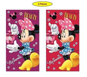 Minnie Disney MS01 - Juego de 2 Toallas de Mano para niños (35 x 65
