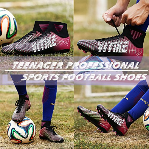 Vitike Violet Crampons High Compétition Sport Football Spike Top Chaussures Ag Homme De 46qra4AP