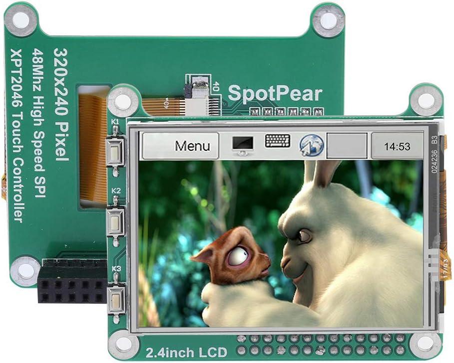 Eboxer 2,4 Pouces /Écran Tactile TFT LCD 320 240 Pixels 48 MHz pour Raspberry Pi A Compatible avec Raspberry Pi 3 Module B//B