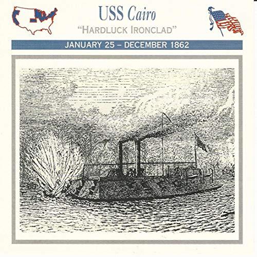 1995 Atlas, Civil War Cards, 29.11 USS Cairo, Ironclad Ship