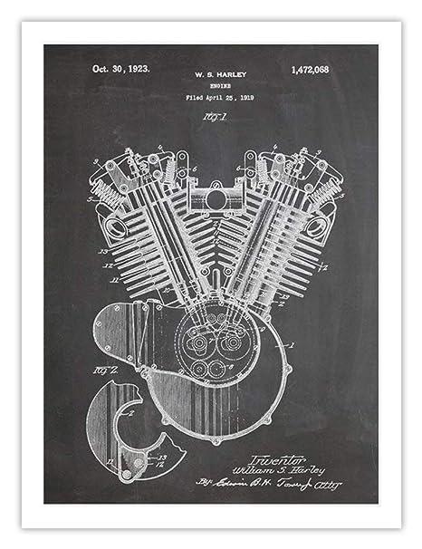 Amazon.com: Harley Davidson 1923 de la motocicleta Motor ...