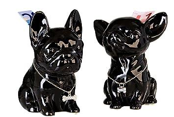 Französische küche comic  Spardose Hund Französische Bulldogge Comics, hoch aus schwarzer ...