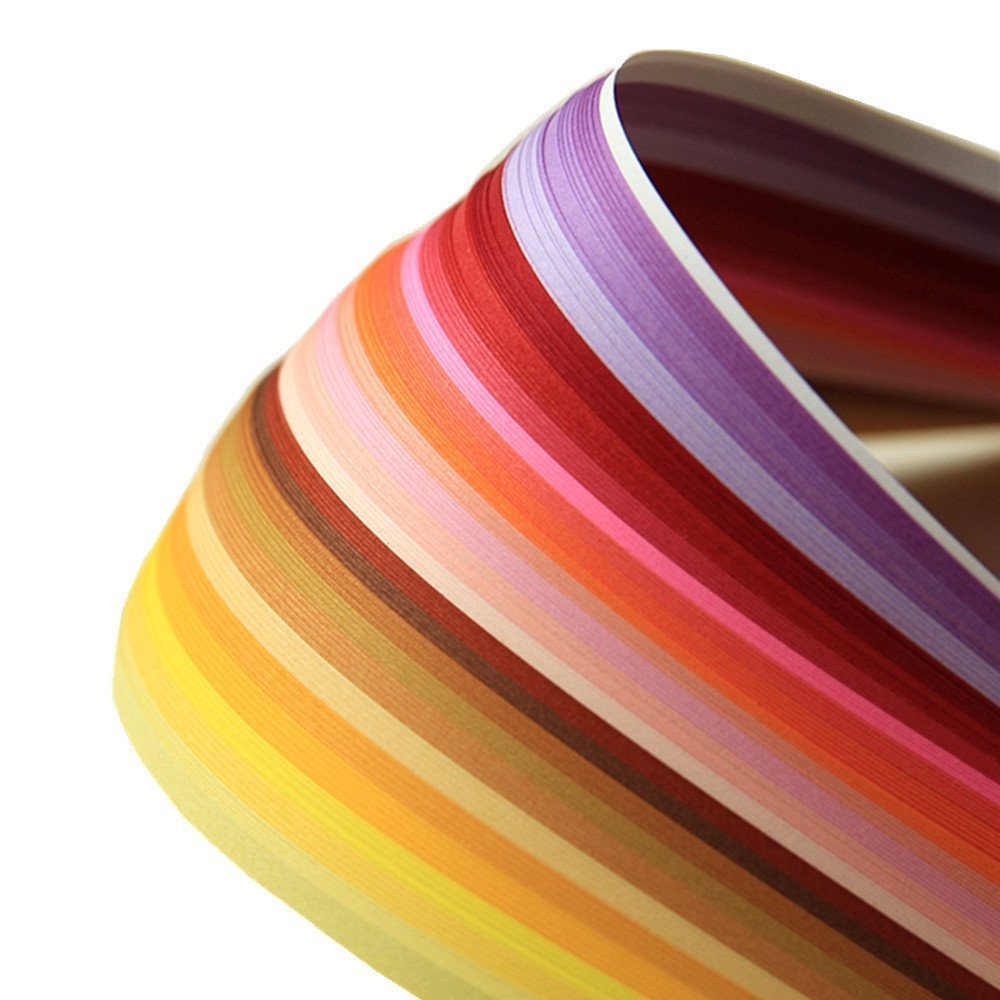 DIY Paper Quilling 500 Strips (Size 5mmx39cm, Pack of 5 Sets) Tomorrow Store