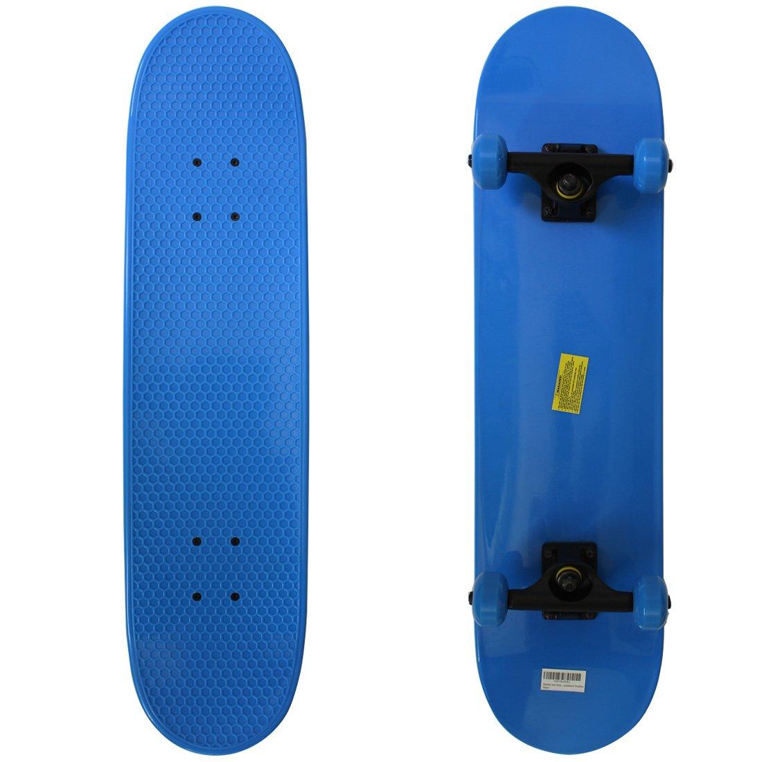 RIMABLE Kids Plastic Complete Skateboard Deepblue