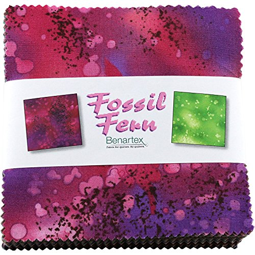 "Benartex FOSSIL FERN 5"" Charm Pack Fabric Quilting Squares"